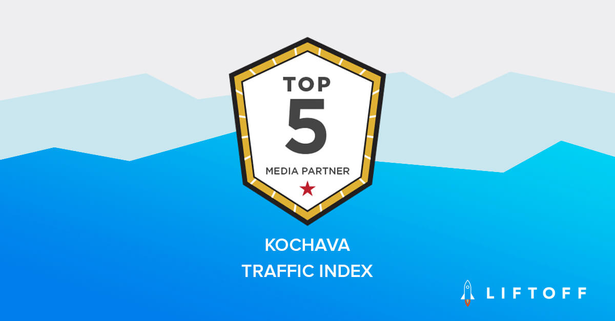 Liftoff Ranked #1 Mobile Partner in EMEA and #5 Globally in 2018 Kochava Traffic Index
